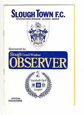 Slough Town v Orient 1989 - 1990  friendly
