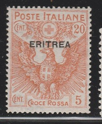 ERITREA 1916 SG50 20c Red Cross MLH  #