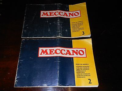 2 Vintage Meccano  book manual  2 and 3  for sets