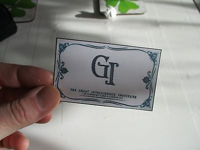 doctor who fan made prop business card