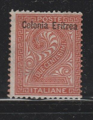 ERITREA 1893 SG2 2c Brown MLH  #