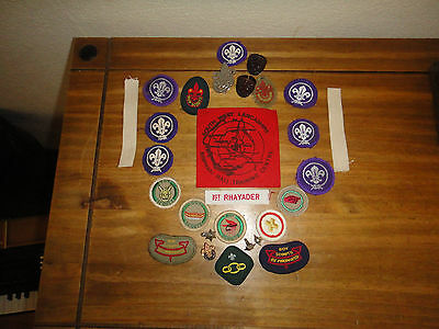 Scout Badges & Patches assorted lot plus Enameled Womans Guild Pins as seen