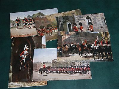 SET OF SIX TUCK POSTCARDS - THE MILITARY IN LONDON, OILETTE No. 6412, 2 BY PAYNE