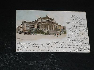 Original German Gruss Aus Postcard - Berlin - July 1899.