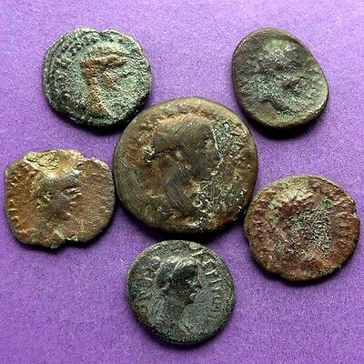 M2249 Lot of 6 Roman provincial bronze coins(2oz)