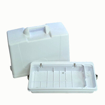 Portable Sewing Machine Carrying Case, Flat Bed, Movable Divider