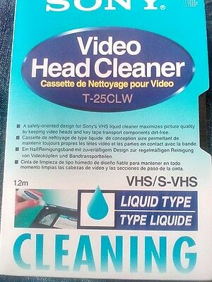 Sony  VHS video head cleaner