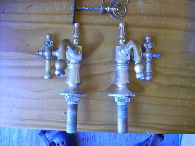 Vintage Solid Brass Victorian Bathroom Sink Faucet Set