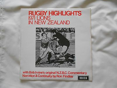 Rugby Highlights Commentary 1971 British Lions In New Zealand Decca Vinyl Lp