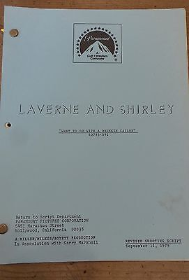 Laverne And Shirley  Tv Show Script Episode  What To Do With A Drunken Sailor