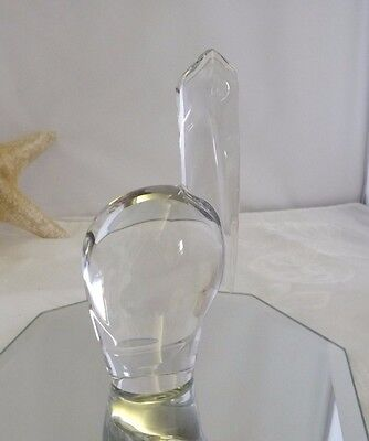 France BACCARAT Art Crystal PELICAN STORK BIRD Figurine ESTATE GREAT CONDITION