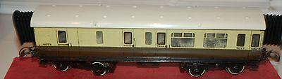 HORNBY SERIES O GAUGE No 2 CORRIDOR COACH IN GWR BROWN AND CREAM LIVERY BOXED