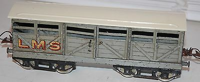 HORNBY SERIES O GAUGE No 2 CATTLE WAGON LMS GREY LIVERY