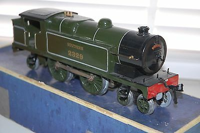 HORNBY SERIES O GAUGE CLOCKWORK No 2 SPECIAL TANK LOCO SOUTHERN BOXED