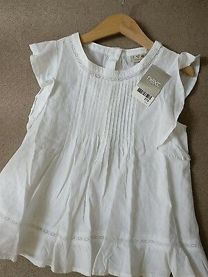 BNWT Girls white summer top by Next - age 7 years