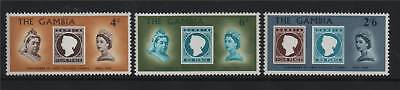 Gambia 1969 Stamp Centenary SG 256/8 MNH