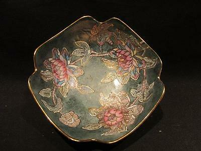 Toyo Made in China Beautiful Cloisonne Style Floral Bowl
