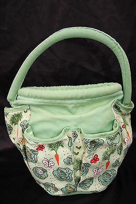 Ulster Weavers Garden Tools Tidy Green Patterned Cotton Bag