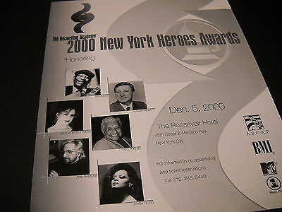 NY HEROES Promo Display Ad DIANA ROSS Bernadtte Peters TITO PUENTE Phil Ramone