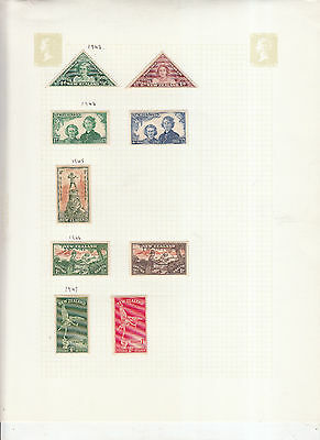 4 Album Pages New Zealand Values/sets Mint/used 4