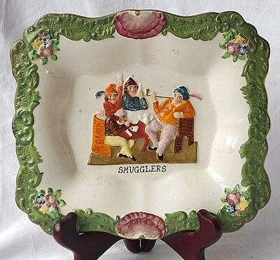 """Early C19Th Prattware Wall Plaque """" Smugglers """""""