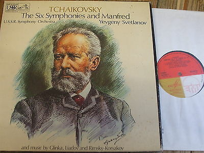 SLS 881 Tchaikovsky The Six Symphonies & Manfred / Svetlanov 7 LP box
