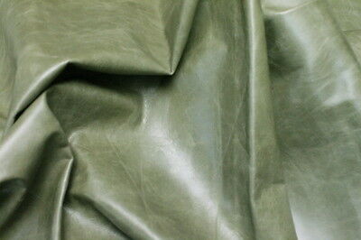 Leather Hide Cowhides Upholstery Skins Craft / Green 5