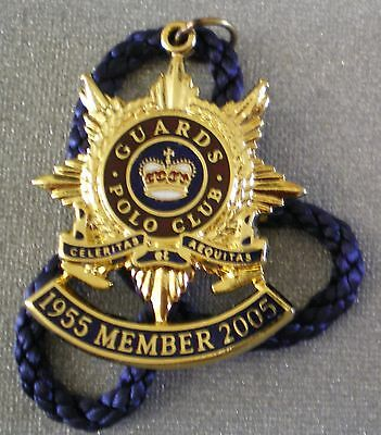 GUARDS POLO CLUB MEMBER 1955 - 2005 ENAMEL Badge with Cord