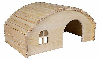 Trixie OVAL Wooden Tortoise Rabbit Guinea Pig Hamster Pet Hideaway House
