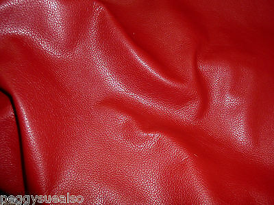 Leather 10 sq ft DIVINE Bright Red top grain Cowhide 2.5oz/1mm PeggySueAlso™