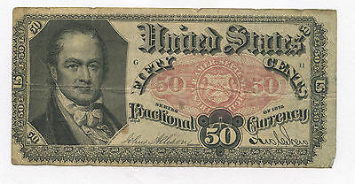50 Cents Fractional Currency 5th Issue FR # 1380 See Description