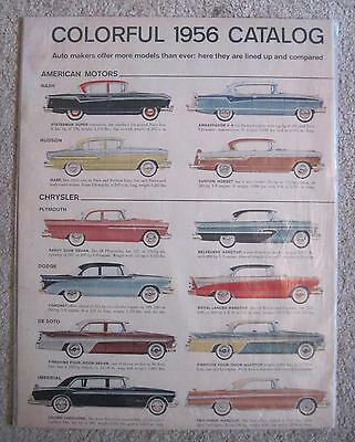 Vtg '56 Chrysler American Motors ORIGINAL Auto Car Print Ad Magazine Advertising