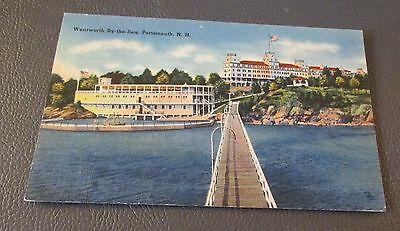 Old Postcard<<NEW CASTLE, NEW HAMPSHIRE >>{ WENTWORTH BY THE SEA HOTEL}
