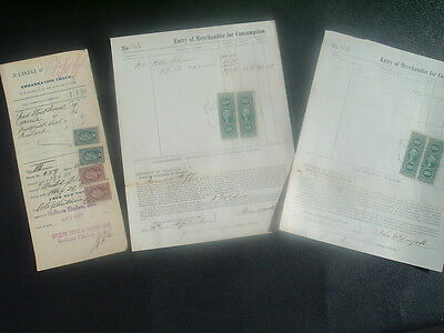 1866-1925 (3) Steamship/Suspension Bridge,Niagara,NY/STAMPS,Signed Document lot!