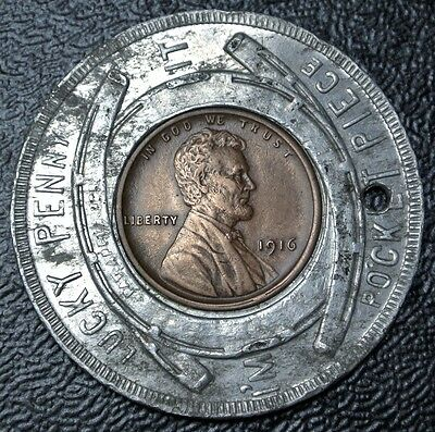Vintage PAN AMERICAN EXPOSITION BUFFALO N.Y. Encased USA 1916 One Cent