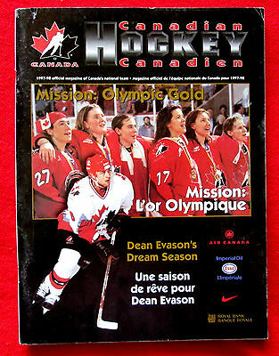1997-98 Canadian Hockey Official Magazine of Team Canada lsc5
