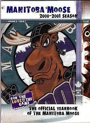 2000 - 2001 Manitoba Moose Yearbook International Hockey League msc8
