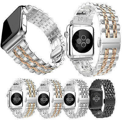 2017 NEWEST Apple Watch Band Stainless Steel Strap Wrist Band Replacement 38 42