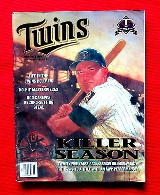 1994 Minnesota Twins Magazine & Scorecard vs Toronto Blue Jays Killebrew Cover c