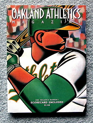 1988 Oakland A's Official Magazine Program with scorecard Vol. 8 No. 1 jmc