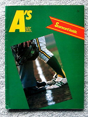 1981 Oakland A's Official Magazine Program with Scorecard jmc