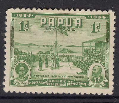 PAPUA 1934 1d 50th Anniv. of Declaration of protectorate MNG