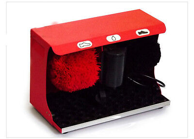 New High End Stainless Steel Automatic Induction Home Public Shoe Dryer Red&$