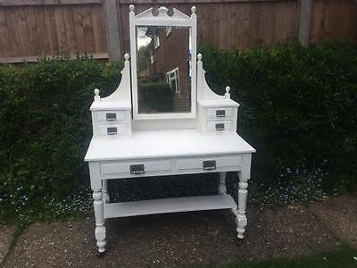 Antique Vintage Edwardian Shabby Chic White Painted Dressing Table