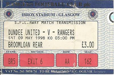 97/98 League May Dundee United v Rangers