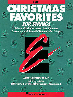 Christmas Favorites String Bass Essential Elements String Method Music Book NEW