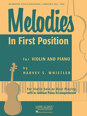Melodies in First Position for Violin & Piano Easy Solos Sheet Music Rubank Book