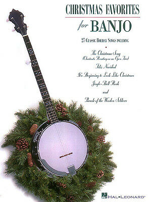 Christmas Favorites for Banjo Solo Sheet Music 25 Songs Hal Leonard Book NEW