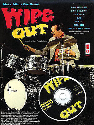 Wipe Out for Drums Jazz Sheet Music Minus One Jim Chapin Play-Along Book CD NEW
