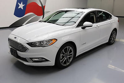 2017 Ford Fusion SE Hybrid Sedan 4-Door 2017 FORD FUSION SE HYBRID SEDAN LEATHER SUNROOF 22K MI #182300 Texas Direct
